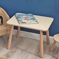 Stół naturalny i krzesła do niego